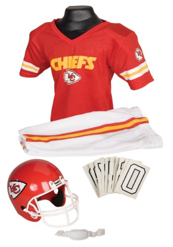 Franklin Sports NFL Kansas City Chiefs Deluxe Youth Uniform Set, Small (Kc Chiefs Halloween)