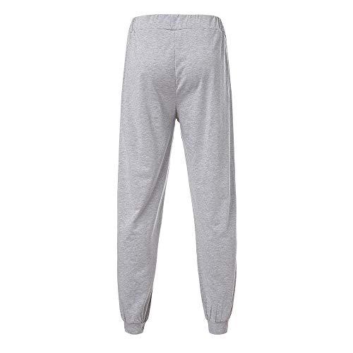 Imprimé Pantalon Pour Gris Cordon À Décontracté Automne Homme Jogging De qxvt5IIz