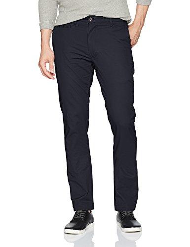 Louis Raphael Men's Skinny Fit Flat Front Stretch Ottoman Cotton Pant, Aviator Navy, 38W x 30L ()