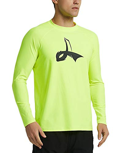 LAFROI Men's Long Sleeve UPF 50+ Loose Fit Rash Guard (Fluorescent, MD) ()