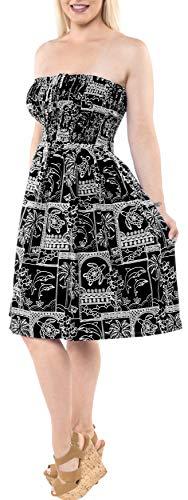 Noir de de Jupe Licol Top LA Couvrir de Tube Cou LEELA Beachwear Robe midi Courte m661 Maillots Bain Bain Maillot de Maxi 7RRqvw