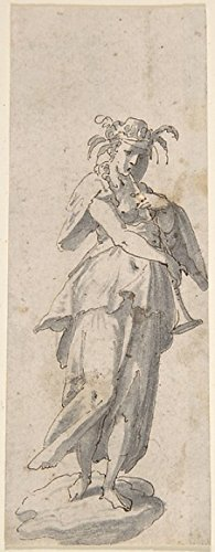 Female Figure with Horn Poster Print by Anonymous Italian 17th century (18 x 24)