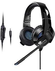 Qingta Gaming Headset, 3,5 mm Klinke Stereo Bass Surround Gaming Kopfhörer für PS4, Xbox One, Nintendo Switch