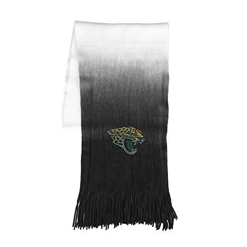 (Littlearth NFL Jacksonville Jaguars Womens Nflnfl Dip Dye Scarf, Black, 76