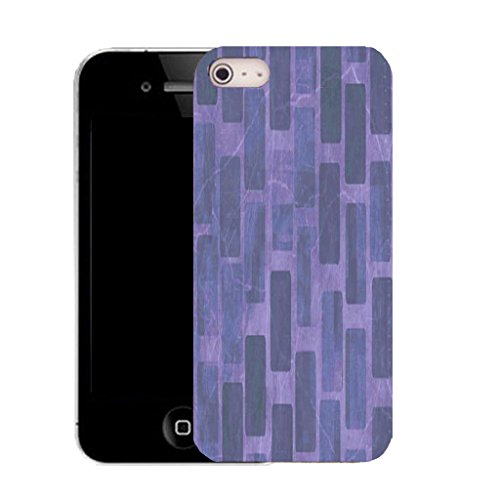 Mobile Case Mate IPhone 4s clip on Silicone Coque couverture case cover Pare-chocs + STYLET - purple wall pattern (SILICON)