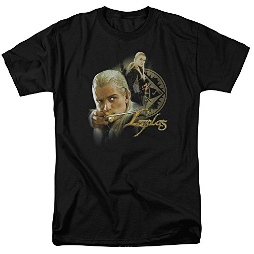 Lord Rings Legolas Bow - The Lord of The Rings Movie Legolas Stare with Bow Adult T-Shirt Tee