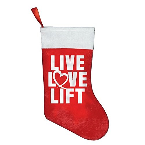 Christmas Holiday Stockings Live Love Lift Red Felt Festival Party Ornaments (Snoopy Pregnant Costume)