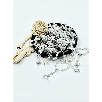 25 Pc White Baptism Favors with Angels Mini Rosaries Silver Plated Acrylic Beads/Recuerditos De Bautismo/Christening Favors/Decenarios/