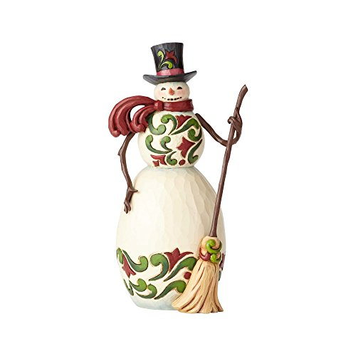 Enesco Jim Shore Heartwood Creek Red/Green Snowman ()