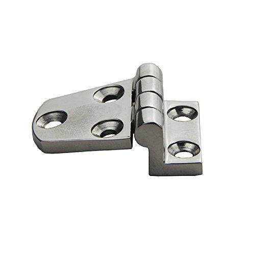 Mangobuy 2 PCS 316 Stainless Steel 5 Holes Offset Door Hinges Hinge 2-1//8 x 1-1//2 Perpendicular Marine Boat Hardware
