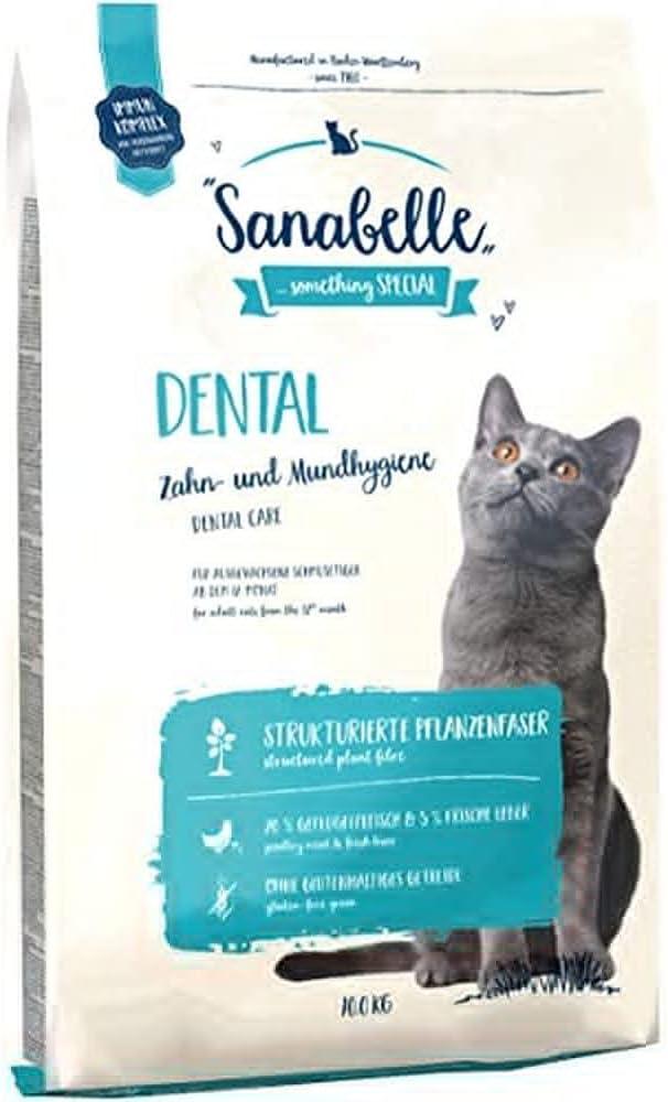 Sanabelle Dental | Comida Seca para Gatos Adultos De Todas Las Razas | para El Cuidado De Los Dientes Y La Higiene Oral 10500 g