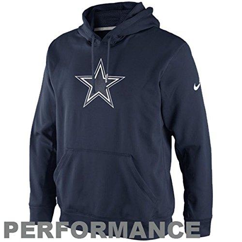 Nike Dallas Cowboys NFL Adult Small Premier KO Hoodie Performance Hooded Sweatshirt - Navy Blue