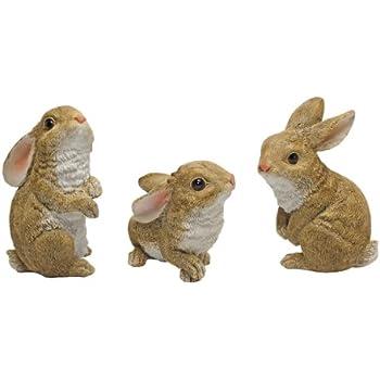 Design Toscano The Bunny Den Garden Rabbit Statues, Multicolored