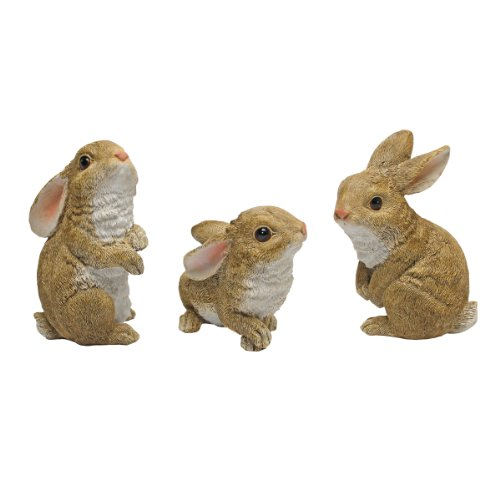 Design Toscano The Bunny Den Garden Rabbit Statues, Multicolored