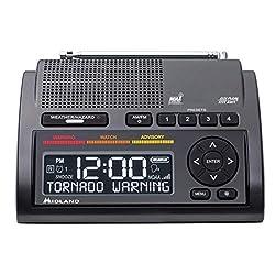 Midland - WR400, Deluxe NOAA Emergency Weather Alert Radio - S.A.M.E. Localized Programming, 80+ Emergency Alerts, & Alarm Clock w/ AM/FM Radio (Renewed)