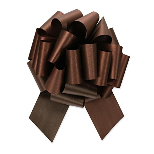 Berwick Offray Ribbon Pull Bow, 5.5'' Diameter with 20 Loops, Chocolate Brown ()