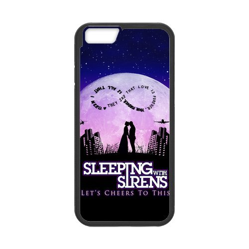 Fayruz- Personalized Protective Hard Textured Rubber Coated Cell Phone Case Cover Compatible with iPhone 6 & iPhone 6S - Sleeping with Sirens F-i5G1094