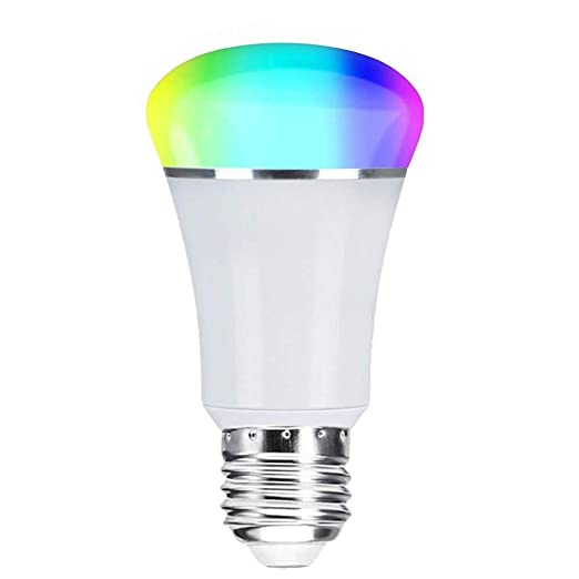 WiFi Smart, Weton Smart LED multicolor bombillas de trabajo con Amazon Alexa Google casa,