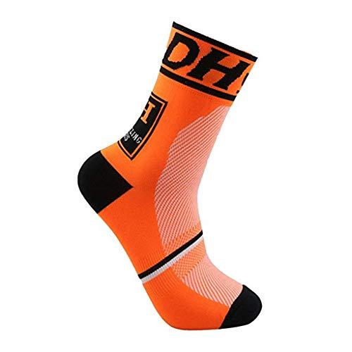 (Barthylomo Compression Socks for Men and Women Anti Sweat Anti Skid Bicycle Riding Socks Running Socks Sports Socks Outdoor Marathon Cross-Country Race)