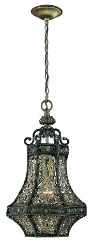 Eurofase 19363-011 Bellini 1-Light Lantern, Rustic Silver