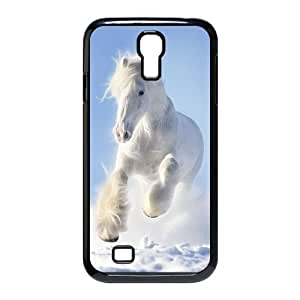 Animal White Horse Custom Durable Hard Plastic Case Cover LUQ238113 For SamSung Galaxy S4 I9500