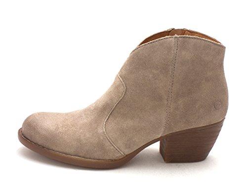 Born Womens Michel Almond Toe Ankle Fashion Boots, Grey (Stone), Size 7.5