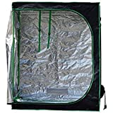 """Quictent SGS Approved Eco-friendly 48""""x24""""x60"""" Reflective Mylar Hydroponic Grow Tent with Heavy Duty Anti-burst Zipper and waterproof Floor Tray for Indoor Plant Growing 4'x2'"""