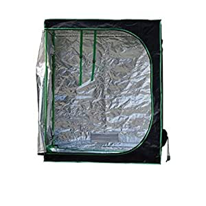 "Quictent SGS Approved Eco-friendly 48""x24""x60"" Reflective Mylar Hydroponic Grow Tent with Heavy Duty Anti-burst Zipper and waterproof Floor Tray for Indoor Plant Growing 4'x2'"