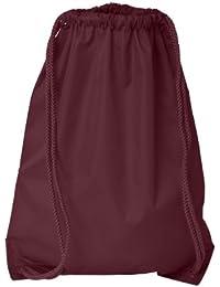 Boston Drawstring Backpack_Maroon_One