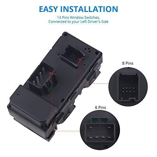 WMPHE Master Window Switch Compatible For GMC Chevy Electric Lift Master Switch with Standard OEM Number Replacement for 20945129 25789692 25951963 20945224 D1954F