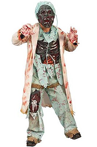 [Zombie Doctor Costume - Large] (Zombie Doctor Childrens Costumes)