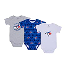 MLB Toronto Blue Jays 3-Pack Licensed Baby Bodysuits