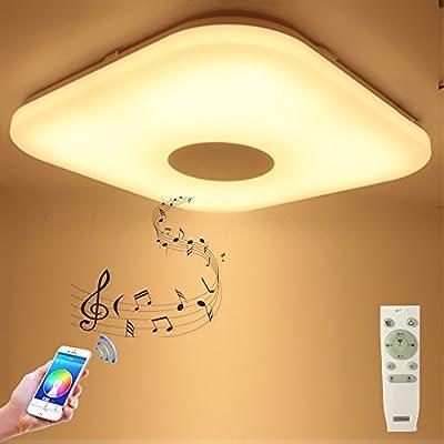HOREVO Square ceiling light