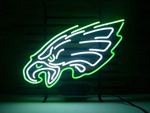 """Desung New 20""""x16"""" Philadelphia Sports Team Eagle Neon Sign (Multiple Sizes Available) Man Cave Signs Sports Bar Pub Beer Neon Lights Lamp Glass Neon Light CX248"""