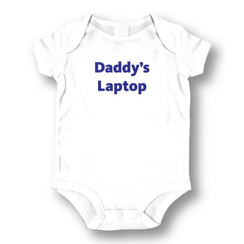 "Attitude Rompers ""Daddy'Laptop"" Baby Romper"