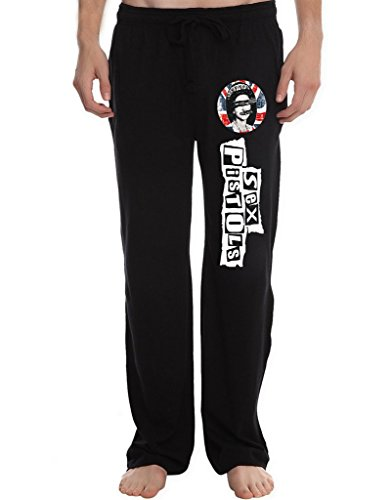 Joe Mauer Studio - RBST Men's Sex Pistols Running Workout Sweatpants Pants L Black