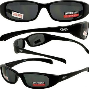 NEW ATTITUDES - Stylish Sunglasses - SMOKE Lenses, GLOSS Black - Glasses New Lenses For