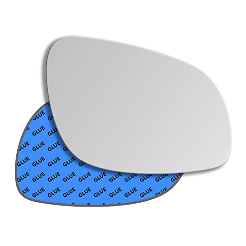 Clip On Driver right hand side Heated wing door Silver mirror glass with backing plate #W-SHY//R-VOS6008
