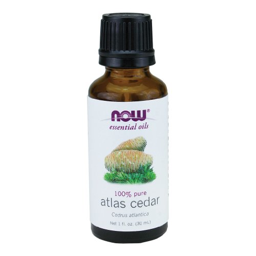 Now Essential Oils, Atlas Cedar Oil, Balancing Aromatherapy Scent, Steam Distilled, 100% Pure, Vegan, 1-Ounce
