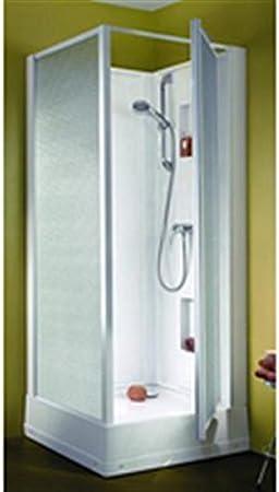 Cabina de ducha izibox cuadrada 70 x 70 cm, instalación en ángulo ...