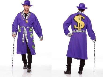 Halloween Wholesalers Funky Pimp Robe, Dollar Print Costume (Blue) (3 Pack)]()