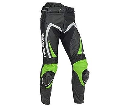 Kawasaki Ninja Pantalones de Cuero Verde/Negro/Gris - 2XL ...