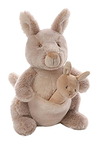 Baby GUND Oh So Soft Kangaroo Stuffed Animal and Plush Rattle ()