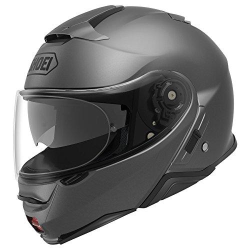 (Shoei Solid Neotec 2 Modular Motorcycle Helmet - Matte Deep Grey / 2x-Large)