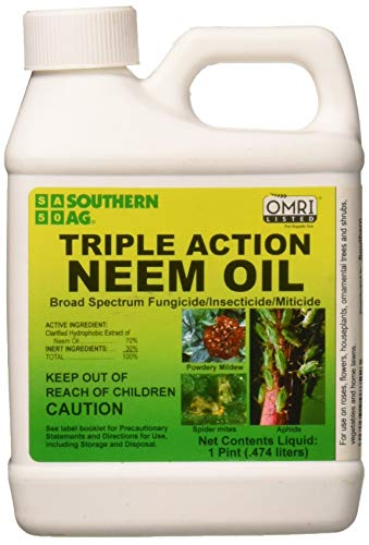 Southern Ag 08722 Triple Action Neem Oil Fungicide...