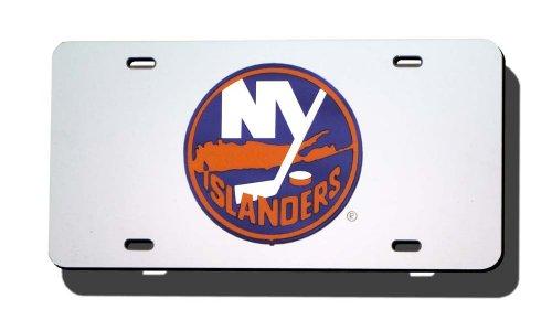 (Rico Industries NHL New York Islanders Laser Inlaid Metal License Plate)