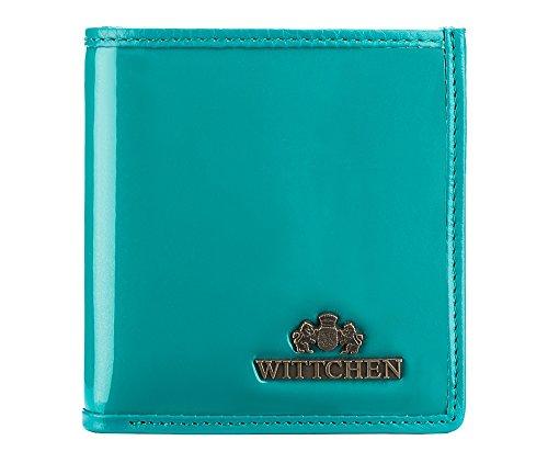WITTCHEN Portafoglio, Dimensione: 9,5x10cm, Blu, Materiale: Pelle verniciata, Orizzontale, Collezione: Verona - 25-1-065-M