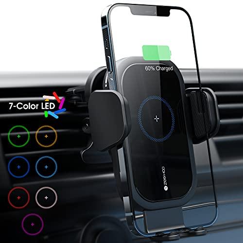Cargador inalámbrico carga rápida de auto para celulares