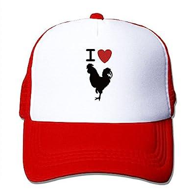 I Love Cock Retro Men Women Adjustable Snapback Hats Dad Hats | Baseball Caps Mesh Back