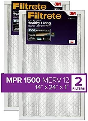 Filtrete ur23–2pk-6e Reduzierung AC Ofen Air Filter, 14x 24x 1, 2er Pack